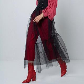 アウラアイラ(AULA AILA)のAULA チュールラップスカート(ロングスカート)