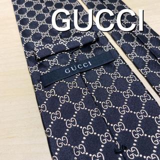 グッチ(Gucci)の【極美品】GUCCI ブラックGG柄 ネクタイ(ネクタイ)