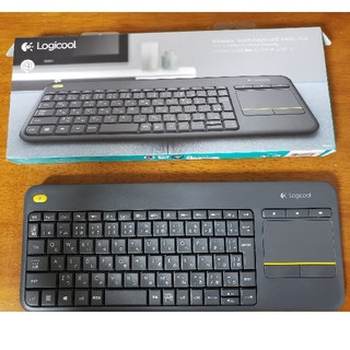 ELECOM - ロジクール ワイヤレス タッチキーボード k400 Plus