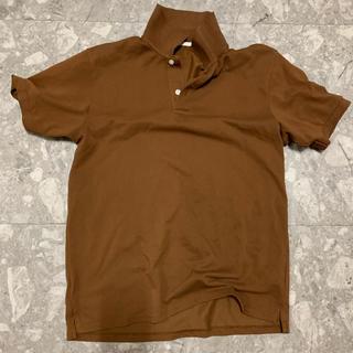 ジーユー(GU)のGU ポロシャツ メンズ ブラウン(ポロシャツ)