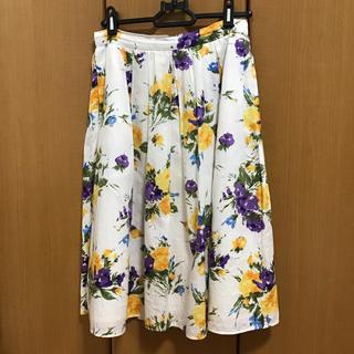 エフデ(ef-de)の古着 花柄スカート(ひざ丈スカート)