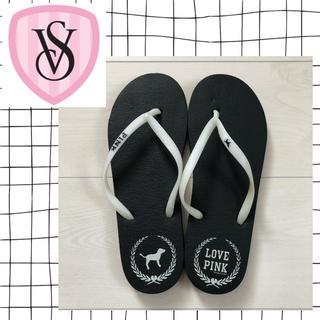 Victoria's Secret - ヴィクトリアシークレットPINK♡未使用 ビーチサンダル 白 黒