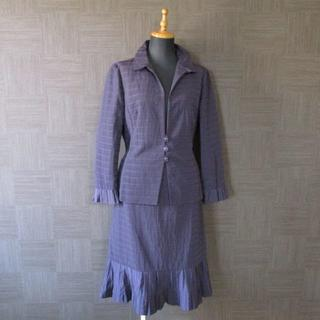 leilian - レリアン スカート スーツ 13 パープル 紫 日本製 大きいサイズ