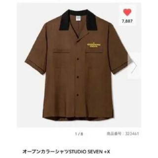 ジーユー(GU)のstudio seven gu オープンカラーシャツ 新品タグ付 (シャツ)