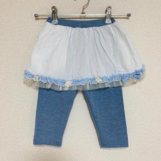 スーリー(Souris)の着用2、3回 スーリー スカッツ スカパン 90(パンツ/スパッツ)