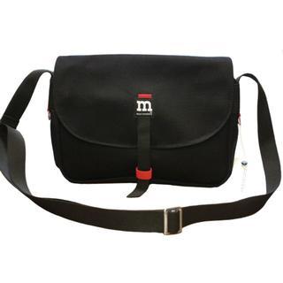 マリメッコ(marimekko)のマリメッコ ショルダーバッグ  ブラック(ショルダーバッグ)