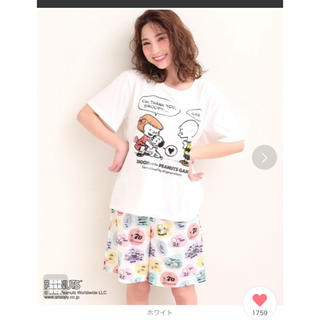 エメフィール(aimer feel)のPEANUTS70周年記念 レトロスヌーピー Tシャツ 上下セット(ルームウェア)