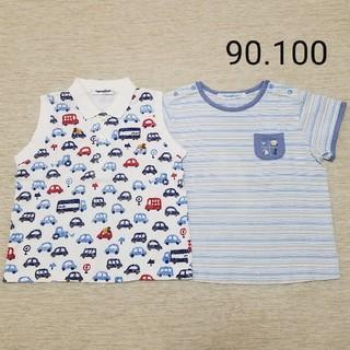 ファミリア(familiar)の[90.100]ファミリア訳あり品 2点セット(Tシャツ/カットソー)