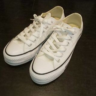 コンバース スニーカー converse 白 white 厚底 靴