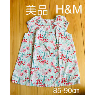 H&M - 【美品】H&M エイチアンドエム ワンピース チュニック サイズ86-90