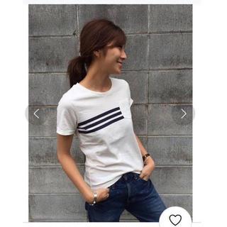 トゥデイフル(TODAYFUL)のTODAYFUL ラインポケットTシャツ 半袖 白 ホワイト 春 夏 シンプル(Tシャツ(半袖/袖なし))