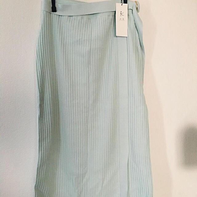 kumikyoku(組曲)(クミキョク)の【新品/限定色】組曲 ストレッチニットリブスカート レディースのスカート(その他)の商品写真