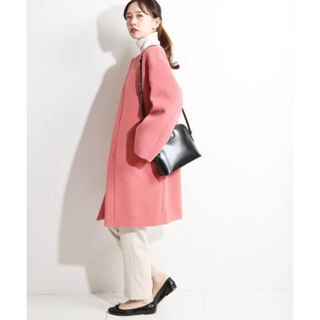 IENA(イエナ)の新品タグ付き IENA 18AW ラムウールノーカラーコート サイズ36 レディースのジャケット/アウター(ロングコート)の商品写真