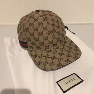 Gucci - GUCCI グッチ キャップ 帽子 GG ロゴ M 58cm イタリア製
