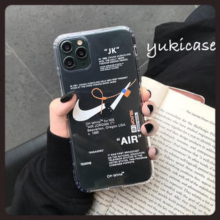 ナイキ iPhone ケース スマホケース NIKE ホワイトロゴ
