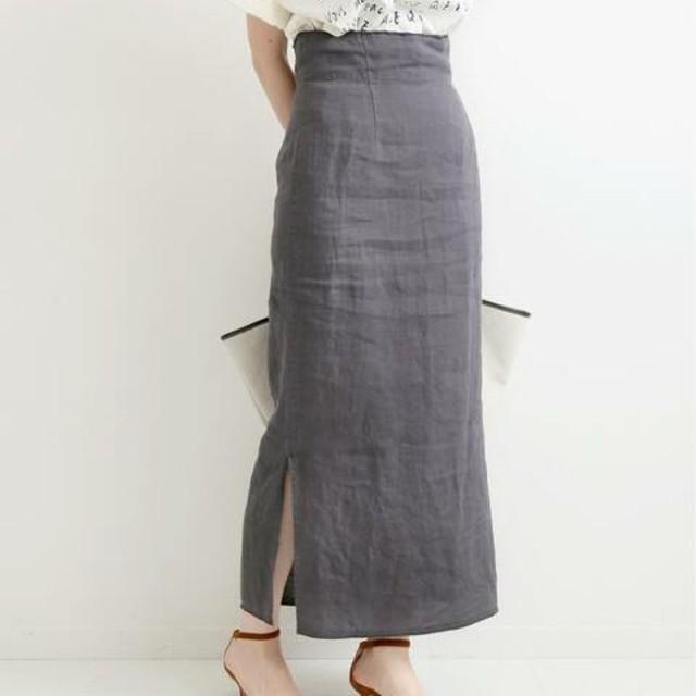IENA(イエナ)のIENA 【新品・タグ付き】リネン タイトスカート レディースのスカート(ロングスカート)の商品写真