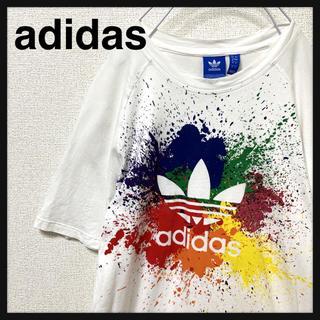 adidas - adidas アディダス Tシャツ トレフォイル ビックロゴ スプラッシュ
