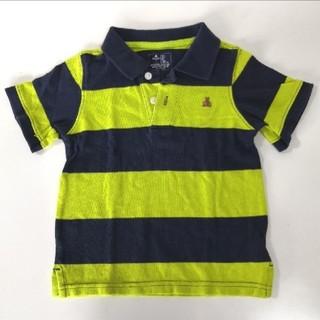 ベビーギャップ(babyGAP)のbabyGap ポロシャツ 半袖 紺 ネイビー ライトグリーン 100cm(Tシャツ/カットソー)
