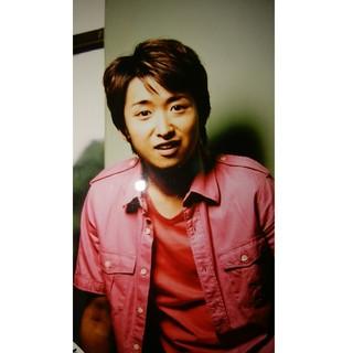 大野智 公式写真 ピンクシャツ!(アイドルグッズ)
