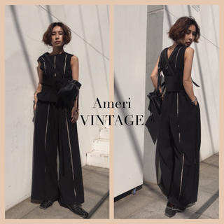 Ameri VINTAGE - AMERI PLEATS WIDE BELT ROMPERS