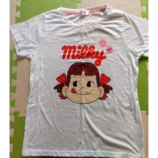 フジヤ(不二家)のペコちゃんTシャツ ミルキー(Tシャツ(半袖/袖なし))