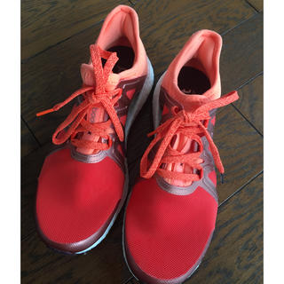 アディダス(adidas)のadidasアディダス★ランニングシューズ★新品同様24オレンジ(スニーカー)