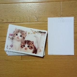 ポストカード、仔猫30枚(使用済み切手/官製はがき)