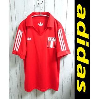 アディダス(adidas)のadidas アディダス ゲームシャツ 赤 ペルー代表 ユニフォーム(Tシャツ/カットソー(半袖/袖なし))
