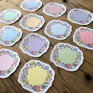 カラー帽子のミニメッセージカード(カード/レター/ラッピング)