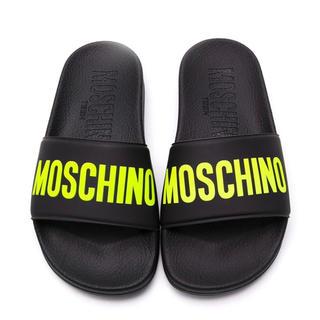 モスキーノ(MOSCHINO)の【新作】モスキーノ サンダル ブラック×イエロー 22.5センチ(サンダル)