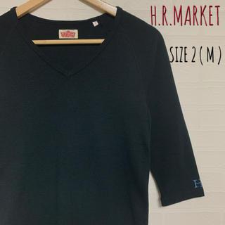 ハリウッドランチマーケット(HOLLYWOOD RANCH MARKET)の美品 ハリウッドランチマーケット ストレッチフライス 七部袖VネックT(Tシャツ/カットソー(七分/長袖))