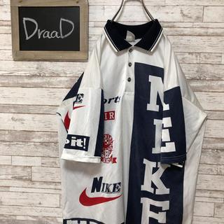 ナイキ(NIKE)の【古着】【古着】90s 銀タグ NIKE ナイキ ナイロン ポロシャツ XL(ナイロンジャケット)
