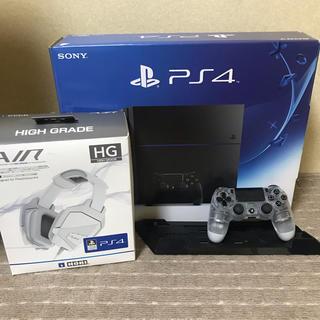 PlayStation4 - PS4 CUH-1200A セット ヘッドホン+縦置きスタンド+コントローラー付