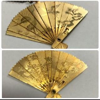 ゴールド ペンダント 扇型(ネックレス)
