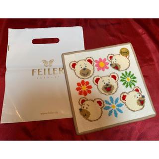 FEILER - フェイラーハンカチ新品未使用品シール付き +フェイラー白色袋