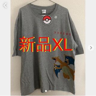 ジーユー(GU)のポケモン リザードン&ヒトカゲ 新品Tシャツ(Tシャツ/カットソー(半袖/袖なし))
