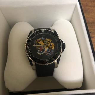 グッチ(Gucci)のGucci 腕時計 確実正規品 虎柄(ラバーベルト)