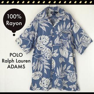 Ralph Lauren - ポロラルフローレン★ADAMS★100%レーヨン★パイナップル★アロハシャツ