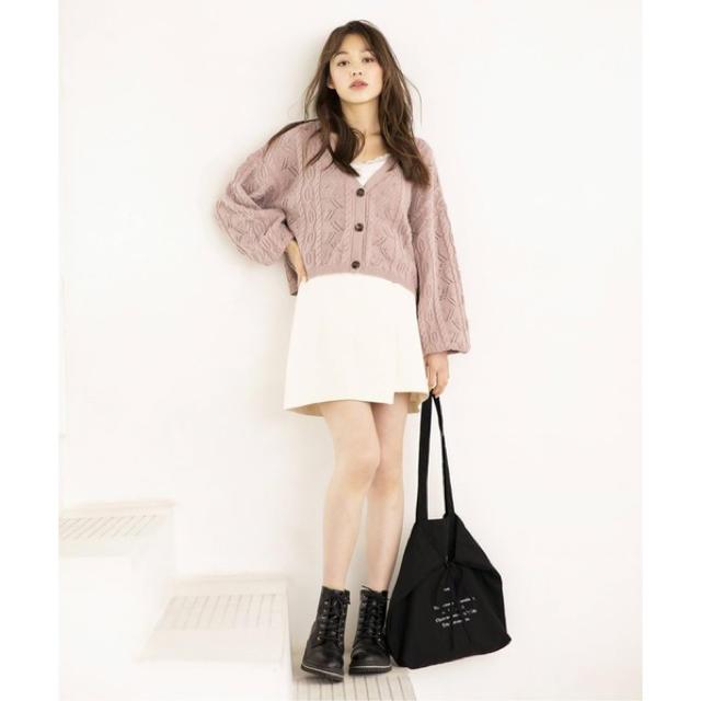 heather(ヘザー)のカラーラップスカパン レディースのスカート(ミニスカート)の商品写真
