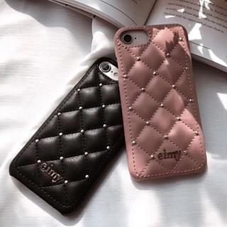 エイミーイストワール(eimy istoire)の♡eimy istoire♡キルティングスタッズiPhoneケース♡ブラック♡(iPhoneケース)