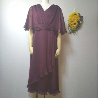 ソワール(SOIR)の新品 46号 定価36000円 大きいサイズ 東京ソワール ドレス ワンピース(ミディアムドレス)