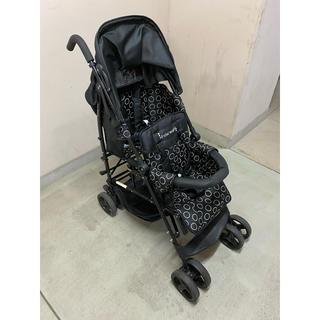 日本育児 - 二人乗りベビーカー キンダーワゴン DUOシティHOP2 ブラック 日本育児