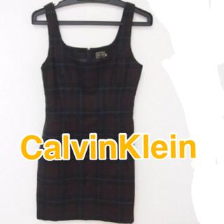 カルバンクライン(Calvin Klein)のカルバンクライン CalvinKlein サイズM チェック柄 (タンクトップ)