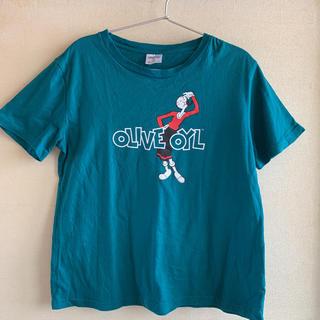 ジーユー(GU)の美品☆GU ポパイ オリーブTシャツ(Tシャツ(半袖/袖なし))