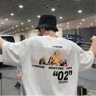 Tシャツ バックプリント オーバーサイズ ルーズ 肩落ち 男女兼用 ホワイト(カード/レター/ラッピング)