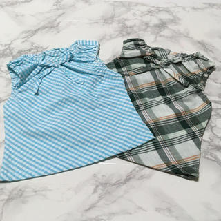 即購入OK!新品未開封 キッズ ノースリーブ 綿100% 90cm 2色セット(Tシャツ/カットソー)