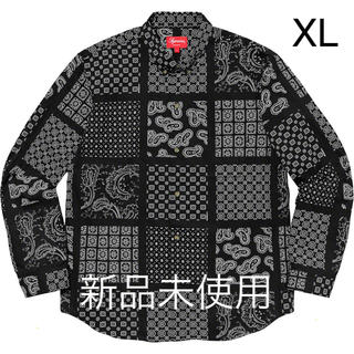 Supreme - Supreme Paisley Grid Shirt XLサイズ ブラック