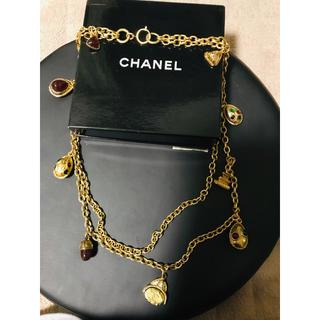 シャネル(CHANEL)の値下げ済 CHANEL アンティーク ヴィンテージ  色石ネックレス(ネックレス)