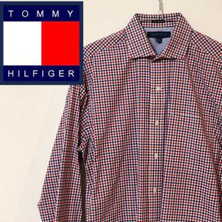 TOMMY HILFIGER - TOMMY HILFIGER トミーヒルフィガー★長袖チェック柄シャツ 赤系