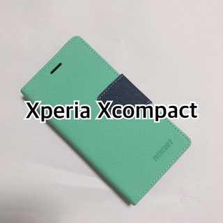 Xcompact ミント×ブルー typeM(Androidケース)